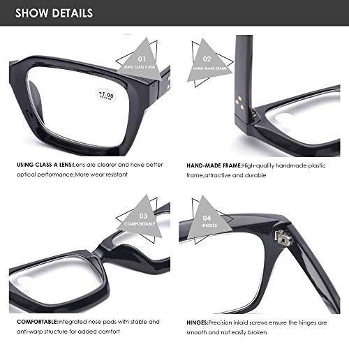 Retro Desinger 50mm Large Lens Square Reading Glass Big Eyeglass ...