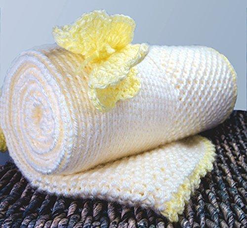 Amazon Com Acrylic Custom Knit Baby Blanket Yellow Butterfly
