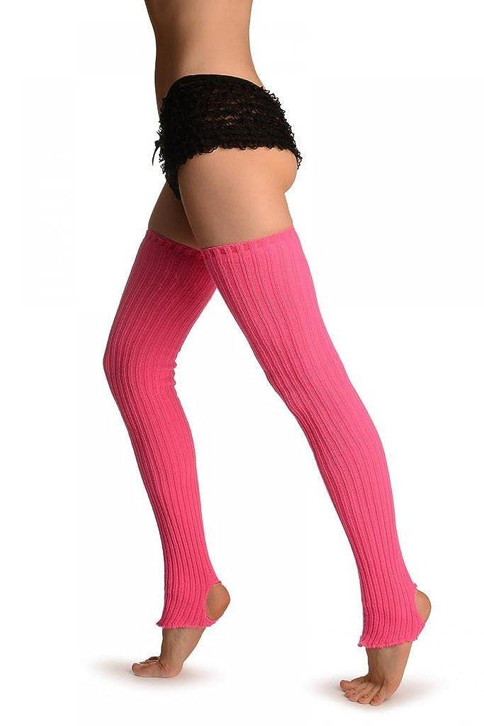 Persian Rose Pink Stirrup Dance/Ballet Leg Warmers - Rosa Scaldamuscoli LW003308