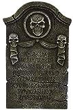 Morbid Enterprises Ribbon Tombstone, Grey/Black, One Size