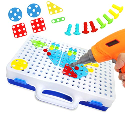 HsgbvictS Puzzles & Magic Cubes Child Toys Children Toys Electric Drill Nut Puzzle Assembled Blocks Set Kids Jigsaw GiftFunny,DIY,Kid's Toy