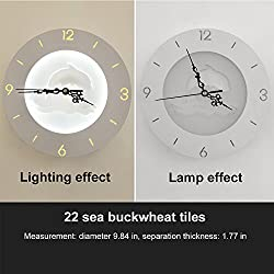 Indoor and outdoor wall lamp simple modern creative wall clock Nordic living room bedroom study LED clock light can be decorated can be illuminated (Design : Dolphins)