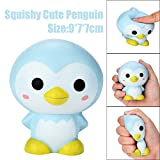Squishy Toy | Stress Relief Toys | Slow Rising Squishy Toys for Boys | Soft Scented Penguin Squishies Toy | Cute Children Gifts Kids Toys - Non-Toxic, 9cm/3.5'' 1PC (Blue)