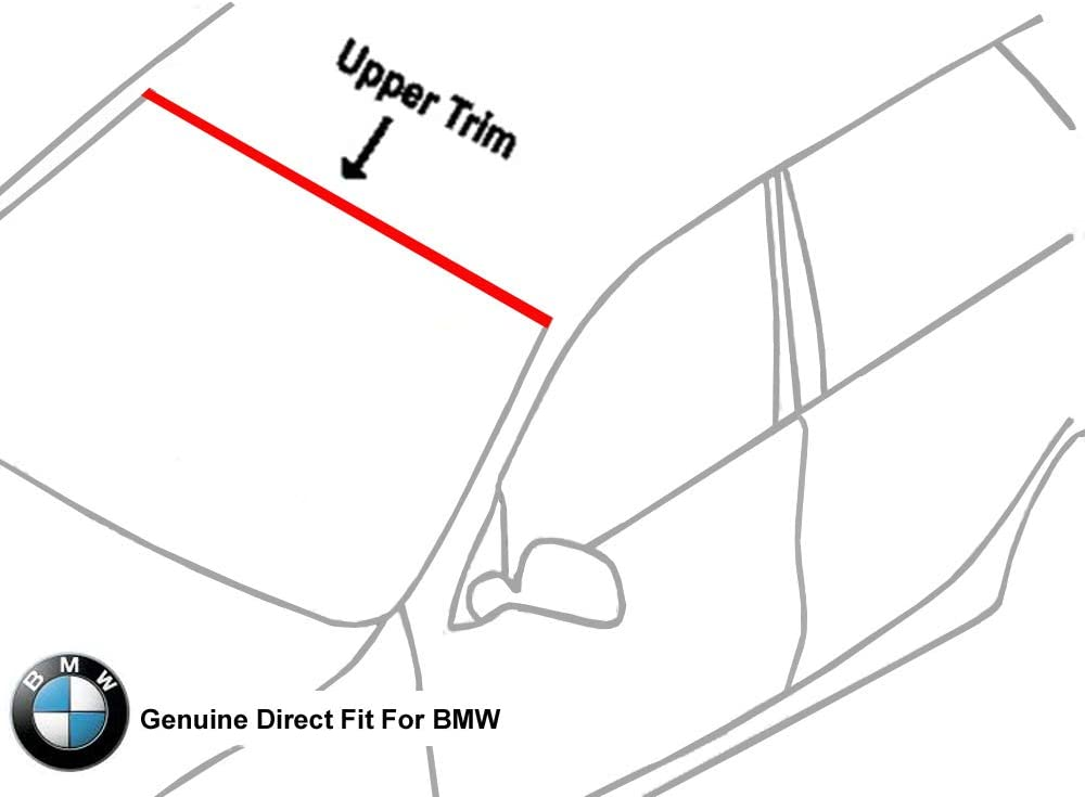 Genuine Direct-Fit Front Upper Windshield Molding Trim Seal For 2007 With FREE INSTALLATION TOOLS INCLUDED 2013 BMW X5 SUV 4-Door Model E70 Sport Utility Vehicle TO OEM #51-31-7-157-681