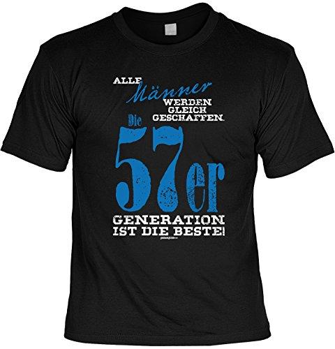 T-Shirt - Männer - Die 1957er Generation ist die Beste - lustiges Sprüche Shirt als Geschenk zum 60. Geburtstag