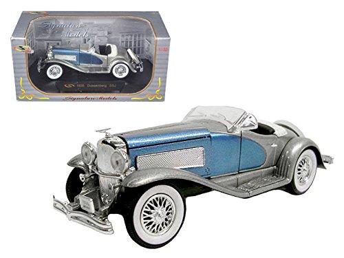 signature-models-32318-1935-duesenberg-ssj-blue-silver-1-32-diecast-model-car