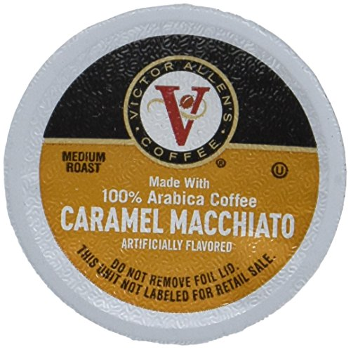 Winner Allen Coffee, Caramel Macchiato Single Serve K-cup, 80 Count (Compatible with 2.0 Keurig Brewers)
