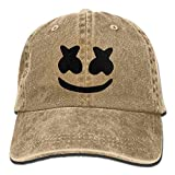 LETI LISW Cool Marshmello FaceWashedDad Hat Adult Unisex Adjustable Cap