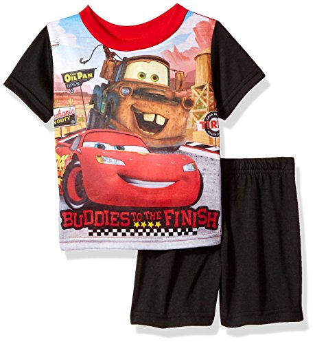 Disney Baby Boys' Cars 2-Piece Pajama Set, Black, (Disney Pjs For Boys)