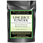 Lime Juice Powder - Spray Dried & Unsweetened Lime Juice - Reconstitute Ratio 1:2 - ING: Organic Powder, 12 oz 3 100% Natural Lime Juice with Lime Oils Great source of Anti-Oxidants Helps improve immune and blood system function