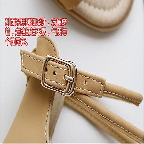 XZGC - Tira de tobillo Mujer Camel