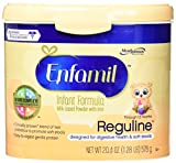 Enfamil Reguline Infant Formula for Soft/Comfortable Stools, Powder, 20.4 Ounce Reusable Tub, 4 Count