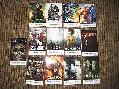 13 Standard Diary - Fandango Set of 13 Standard size trading card PROMO from Sdcc Supernatural Arrow B-0011