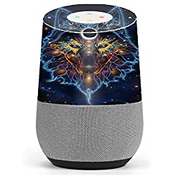 Skin Decal Vinyl Wrap for Google Home stickers skins cover/ Wolf Dreamcatcher Color