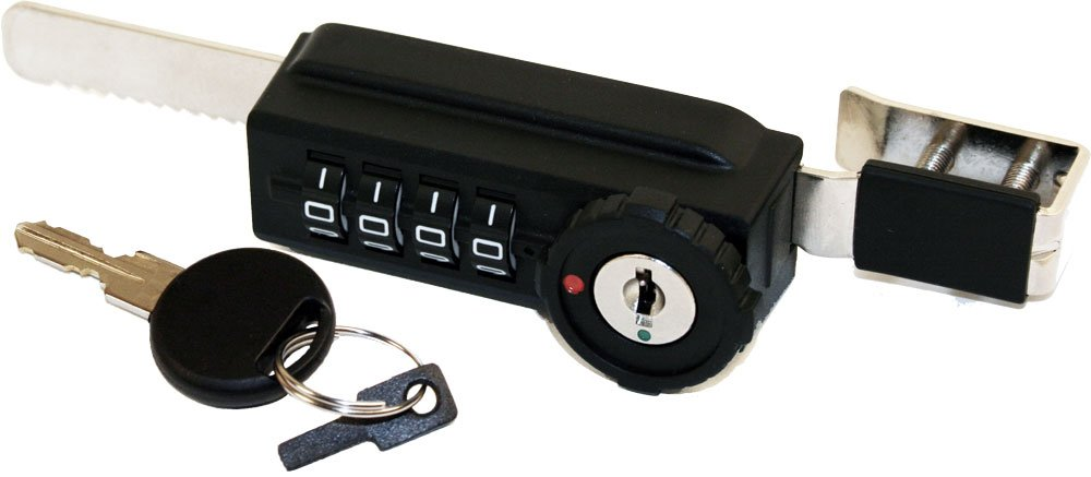 Combi-Ratchet 7865S 4-Dial Sliding Combination Ratchet Lock with Key Override for Glass Display Cases by Combi-Ratchet
