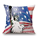 NXDA Pillow Case,Vintage The American Flag Painting Linen...
