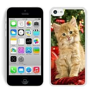 Special Custom Made Iphone 5C TPU Case Christmas Cat White iPhone 5C Case 41
