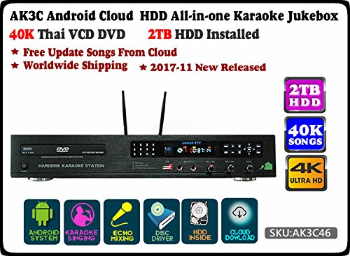 ACEUME-AK3C-Android-All-in-one-HDD-Karaoke-PlayerJukeboxMachine-System2TB-HDD-40K-Thai-VCD-DVD-SongsFree-Cloud-Download