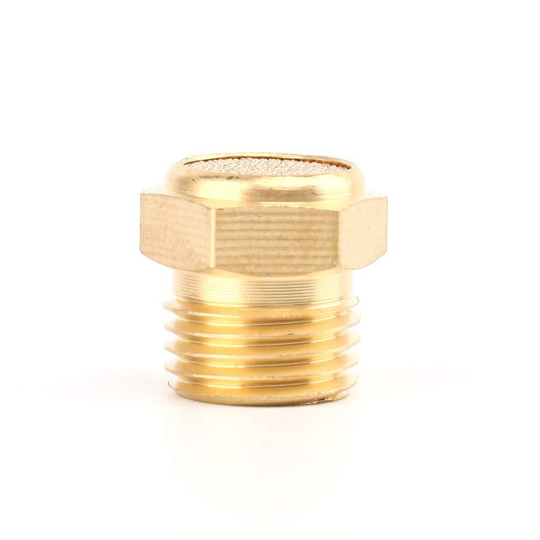SNS PST-N01 Male Thread 1//8 NPT Brass Pneumatic Exhaust Muffler Silencer 10 PCS Per Pack