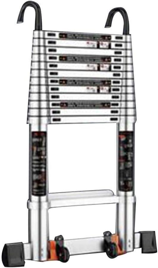 Escaleras De Mano, Escaleras Telescópicas Portátil Casa Renovación Escalera Recta Altura Ajustable Aleación De Aluminio, 3 Tamaños LIUDINGDING (Color : Silver, Size : 2.5M): Amazon.es: Hogar