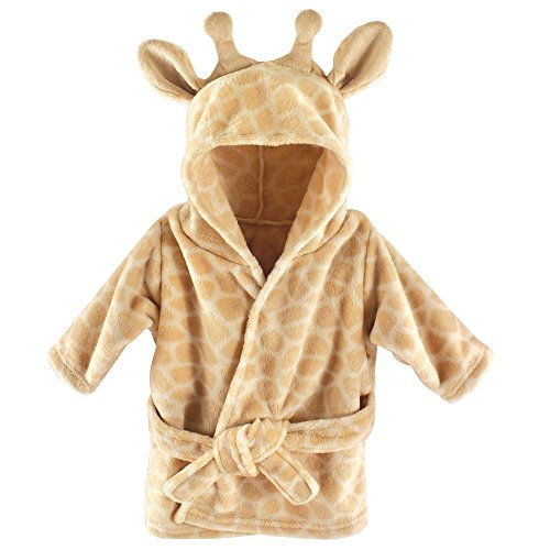 Hudson Baby Unisex Baby Plush Animal Face Robe, Giraffe, One Size -