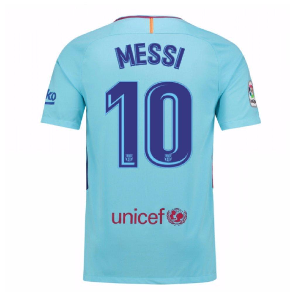 2017-2018 Barcelona Away Football Soccer T-Shirt Trikot (Lionel Messi 10)