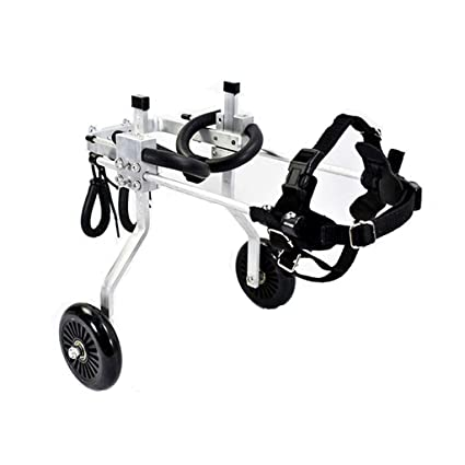 Silla de ruedas para mascotas, tamaño para perros pequeños Carrito de acero inoxidable Mascota /