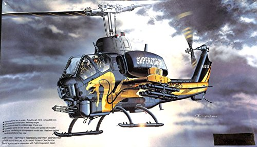 MRC 1:35 AH-1T+ Super Cobra Gold Cobra Helicopter Plastic Model Kit #BA105