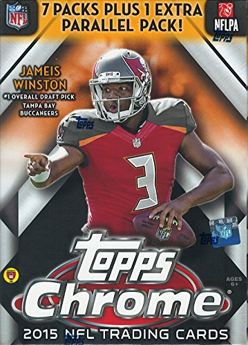 Topps Red Football (2015 Topps Chrome NFL Football Series Unopened Blaster Box with a Rookie Card in Every Pack and 4 EXCLUSIVE REFRACTORS)