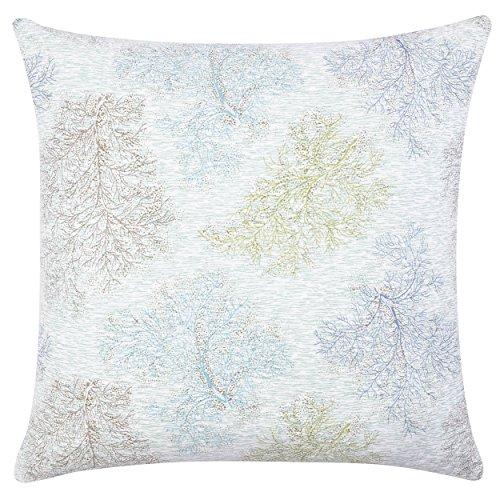 Laura Ashley Saltwater European 26-inch Pillow, Euro Sham Set, Blue