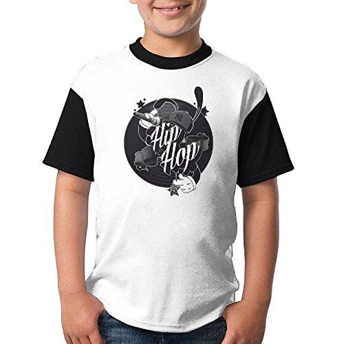 SIGOU Kid's Raglan T Shirts Hip Hop Rap Logo 3D Digital Casual Short Sleeves Tees Top Fot Boys - Stores Leesburg