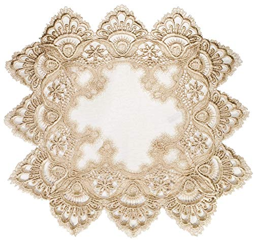Square Placemat or Doily in Gold European Lace and for sale  Delivered anywhere in USA