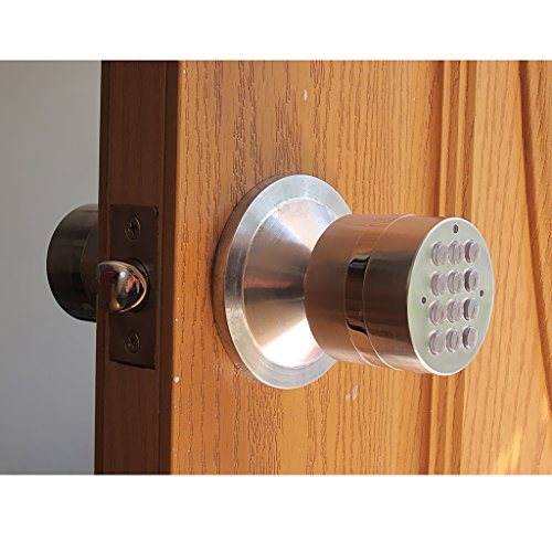 MonkeyJack Heavy Duty Door Knob Handle Passageway-lock Home Safety Code Digital Electronic Locker by MonkeyJack (Image #6)