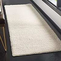 Safavieh Natura Collection NAT620A Hand-Woven Ivory Runner (23 x 8)