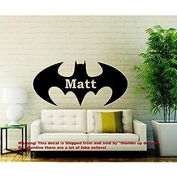 Wall Decals Personalized Name Batman Decal Vinyl Sticker Superhero Nursery  Decor Playroom Interior Bedroom Window Decals