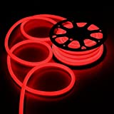 50ft 110V Flex LED Neon Rope Light Indoor Outdoor Holiday Party Valentine Decoration Lighting Red