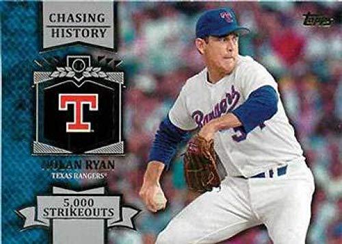 2013 Topps Chasing History #CH-27 Nolan Ryan Rangers MLB Baseball Card NM-MT