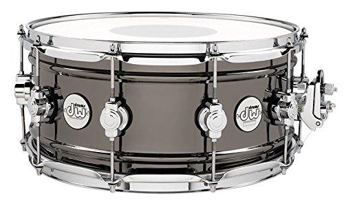 DW Design Series Black Nickel over Brass Snare Drum 14x6.5 Inch ()