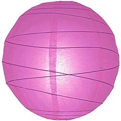 "WGI 12"" Violet Free-Style Ribbed Paper Lantern (Set of 2)"
