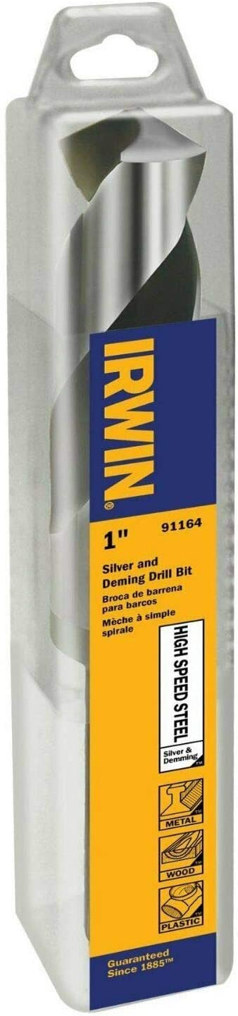 PLASTILINUM IRW91164-1//2qu ot; Reduced Shank Silver and Deming HSS Drill Bit