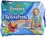 lil swimmers - Pampers Splashers Disposable Swim Diapers, Size 3/4, 24 Count, JUMBO