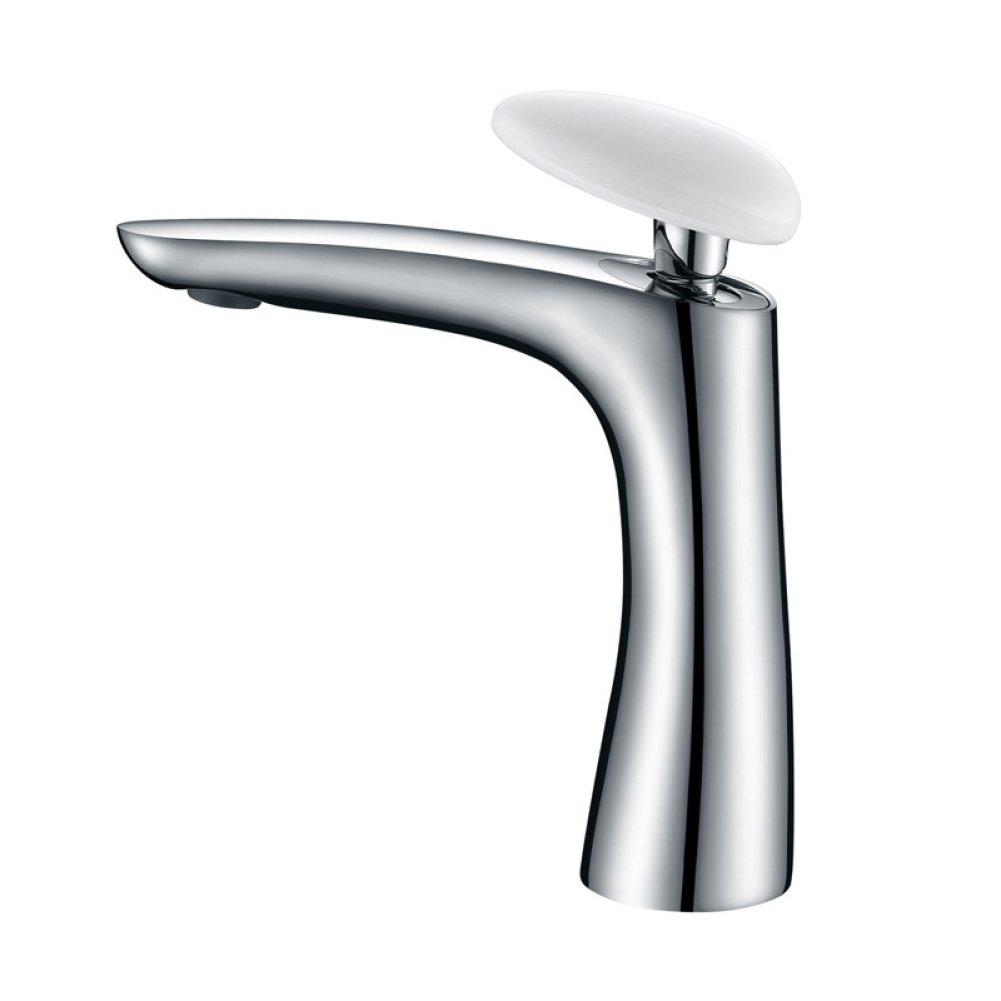 FW Sanitärprodukte FW Bad Kupfer heiß und Kalt Wasserhahn bleifreies Porzellan Einhebel Griff Waschbecken Wasserhahn
