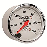 """Auto Meter 1396 Arctic White 3-1/8"""" 120 mph Mechanical Speedometer with Trip"""