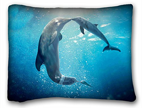 Tarolo New Arrival Pillowcases Cover Dolphin Tale Poster Pillow Cover Design Zippered Pillowcase Personalized Throw Pillowcases Decorative Sofa Or Bed Pillow Case Cover Size 20x26 Inches