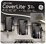 GE LED CoverLite Nightlights 3 Pack Brushed Nickel Auto On/Off
