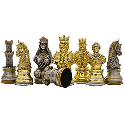 Regencychess The Medieval Pewter Hand Painted Luxury Chess Men by Italfama