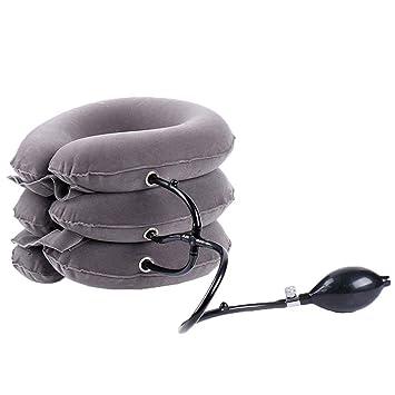1X Air Aufblasbare Kissen Kopfschmerzen Rückenschulter Zervikale Zugvorrichtung