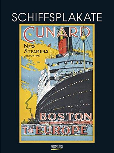 Schiffsplakate 2018: Großer Kunstkalender. Wandkalender mit vintage Plakaten von Booten im Kunst Gallery Format: 48 x 64 cm, Foliendeckblatt