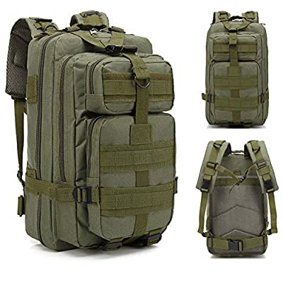 Lovinland 30 L Outdoor Backpack Tactical Rucksacks Military Trekking Bag for Hiking Camping Hunting Army Green