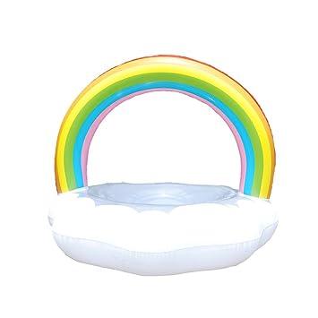 Gereton Anillo de Baño en Forma de Nube Hinchable Multicolor ...